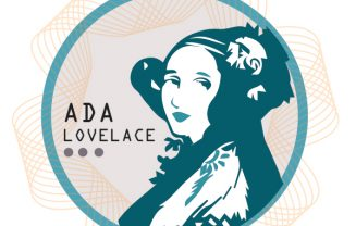 "A logo of Ada Lovelace within a circle accompanied with text ""Ada Lovelace"""